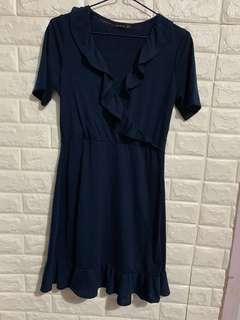 Cotton on navy one piece dress 深藍色連身裙