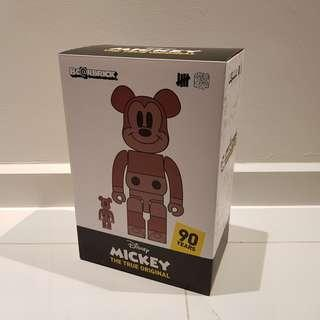 Bearbrick Mickey Mouse True Original Undefeated 400% + 100%