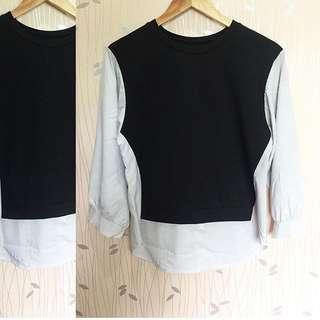 Black / Off White Sleeves Top ❤️❤️