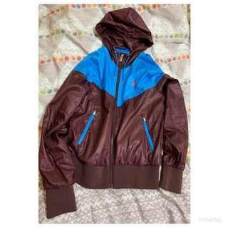 NIKE藍咖撞色風衣外套