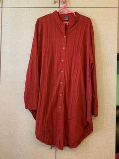 🚚 Red/maroon Long top plus size