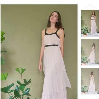 Looking for HARPER TIERED TULLE MAXI DRESS IN PASTEL ROSE (size:S)