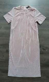 🚚 Mothercot Eat Jump Cry Pink Maternity Dress