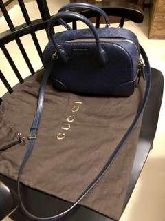 Gucci Navy Diamante Leather