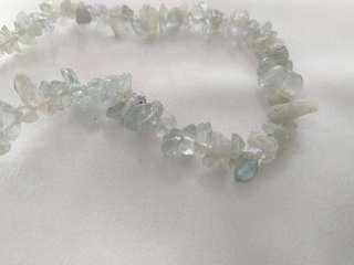 Original aquamarine crystals anklets