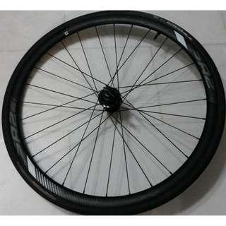 disc brake front road bike bicycle wheel with tyres tubes Excellent condition