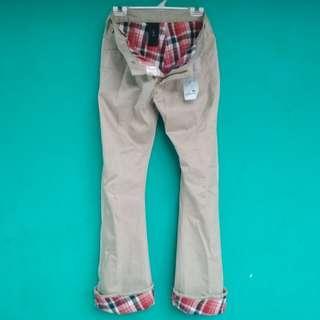wrangler jeans - celana tartan - flanel lined pants