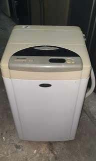 Used sharp washer 4.5kg washing machine mesin basuh fully automatic stainless steel drum in good condition