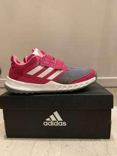 🚚 Adidas girls pink velcro track shoe