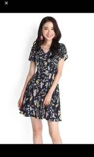 Lilypirates exuberant by nature dress in blue floral - M