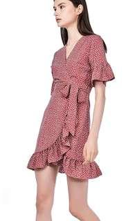 🚚 The Editors Market TEM Keshi wrap front ruffle dress