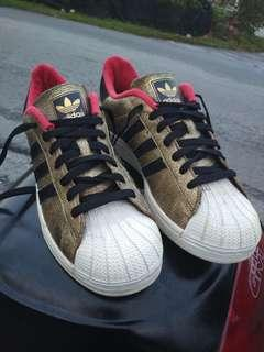 """Adidas Superstar ll """"year of the horse"""" gold (D65601)  made in Indonesia"""