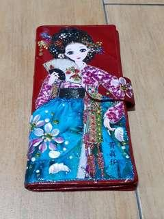 🚚 Red Wallet with Chinese Lady Design - New