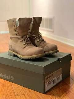 Timberlands - teddy fleece fold down boots