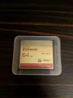 🚚 64gb CF card sandisk extreme
