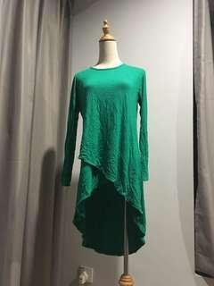 Emerald green tunic