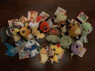 Pokemon plush keychains