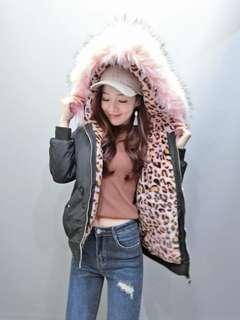 🚚 全新豹紋內裡鋪棉外套