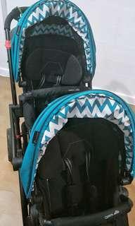 Contour elite double stroller