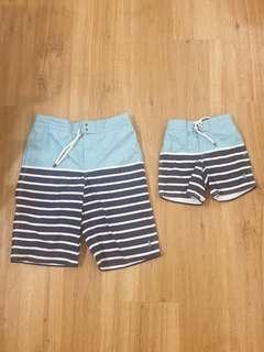 Father and son Ralph Lauren shorts