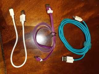 安桌Android系統充電線.紫色1m充電線.1.5m充電線