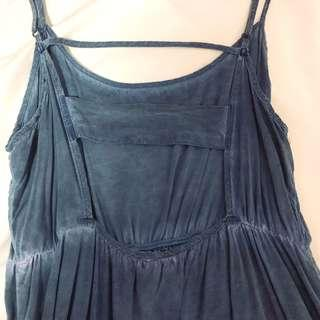 (instock) cotton on faded ombre blue backless dress