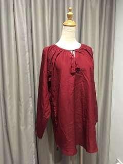Maroon blouse / tunic top