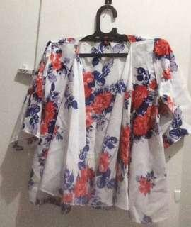 OUTER/CARDI FLORAL 3/4