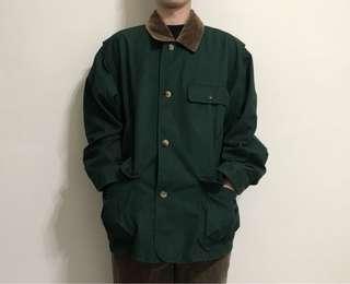 🚚 (美品)McGREGOR燈芯絨領綠色獵裝外套
