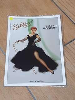 Robert Opie Collection Post card - Silk Stockings Series