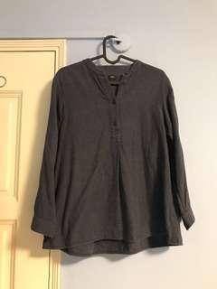 Uniqlo Blue Long Sleeve Shirt