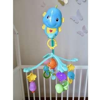 Fisher-Price 3-in-1 Soothe and Play Seahorse Crib Mobile