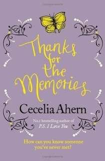 🚚 Thanks for the Memories - Cecelia Ahern