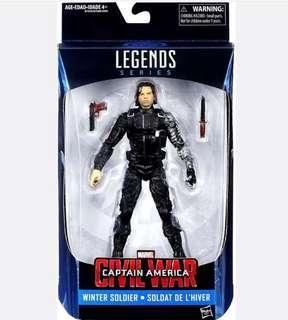Marvel Legends winter soldier Bucky (captain America) Figure