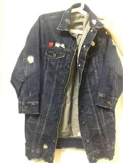 Long Denim Jacket size M