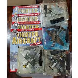(Issue 1-4 )  Fighter Aircraft Magazine with Die-cast Model