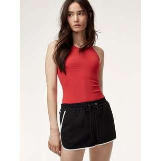 Aritzia Odila Bodysuit in Red
