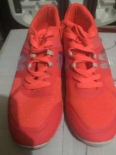 kappa neon pink running shoes