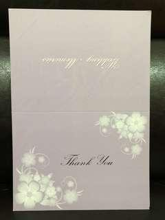 Thank you card for wedding photo