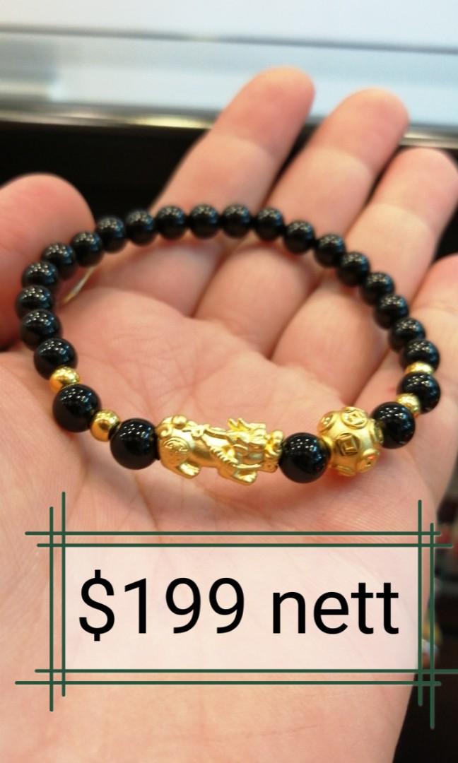8b5913989 999 gold pixiu bracelet with money ball, Women's Fashion, Jewellery ...