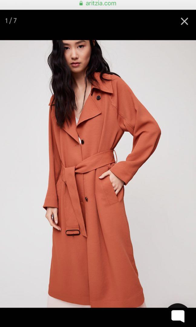 Aritzia Pelat trench coat