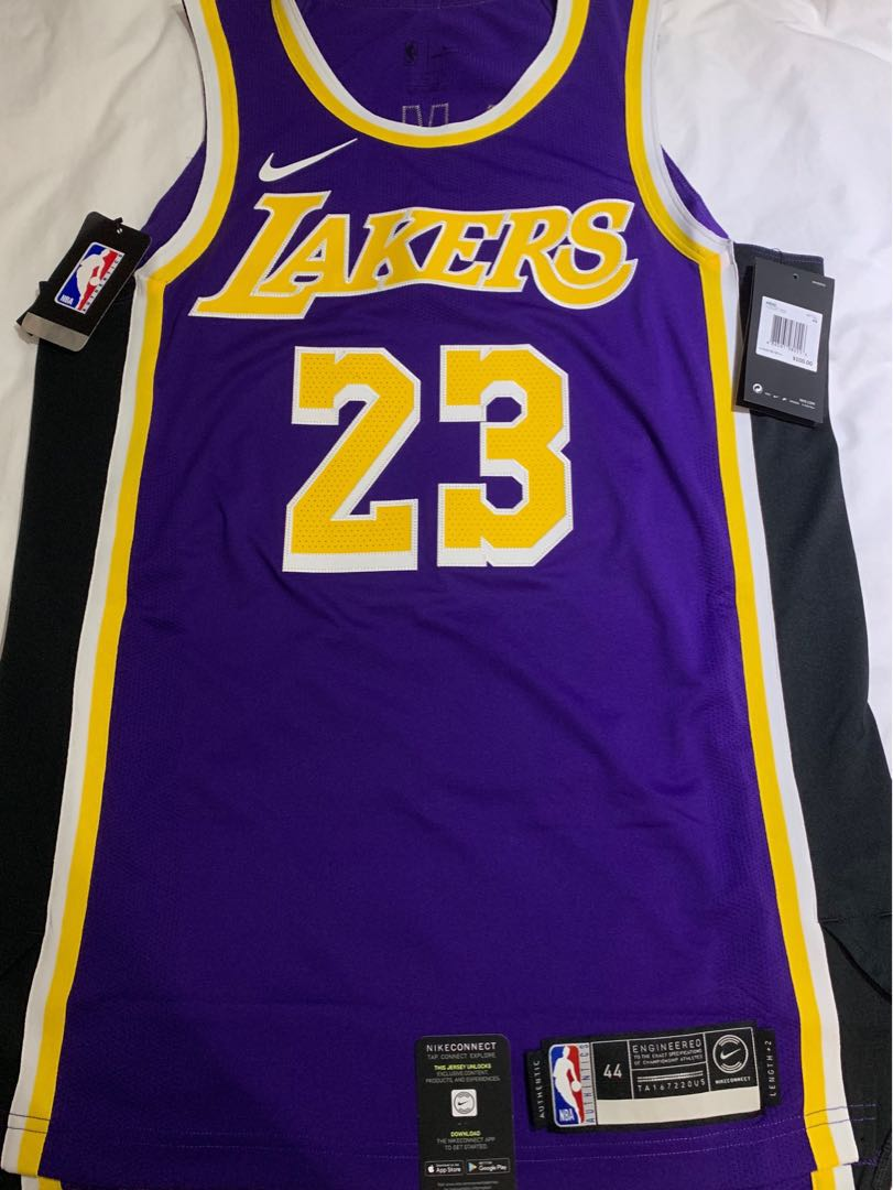 best service 18da0 6481a Authentic AU Los Angeles lakers Lebron James Statement Jersey 44 球員版