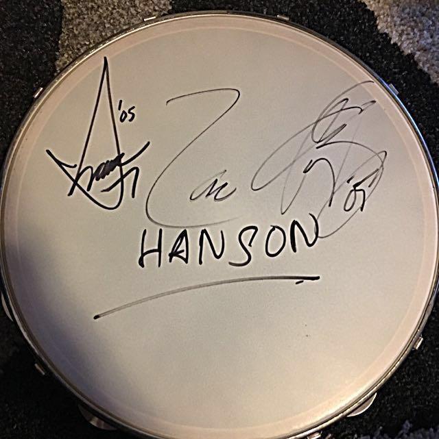 Autographed Hanson Tamborine From 2005 Australian Tour