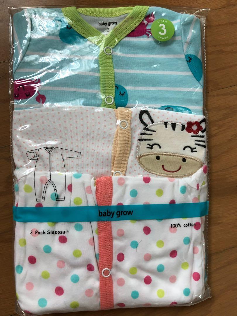 Babygrow Sleepsuit 0-3M