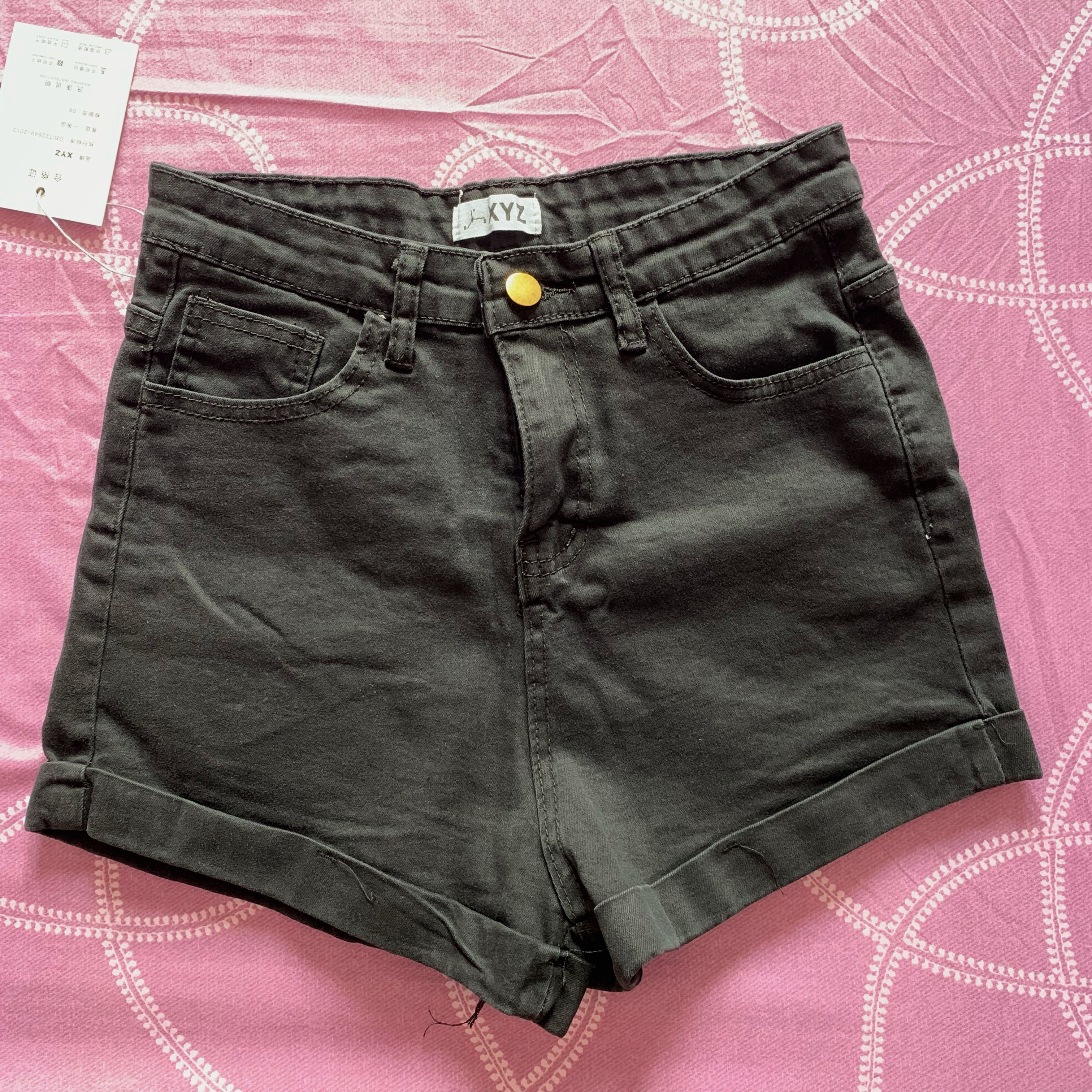 fa513a873be black high waist shorts, Women's Fashion, Clothes, Pants, Jeans ...