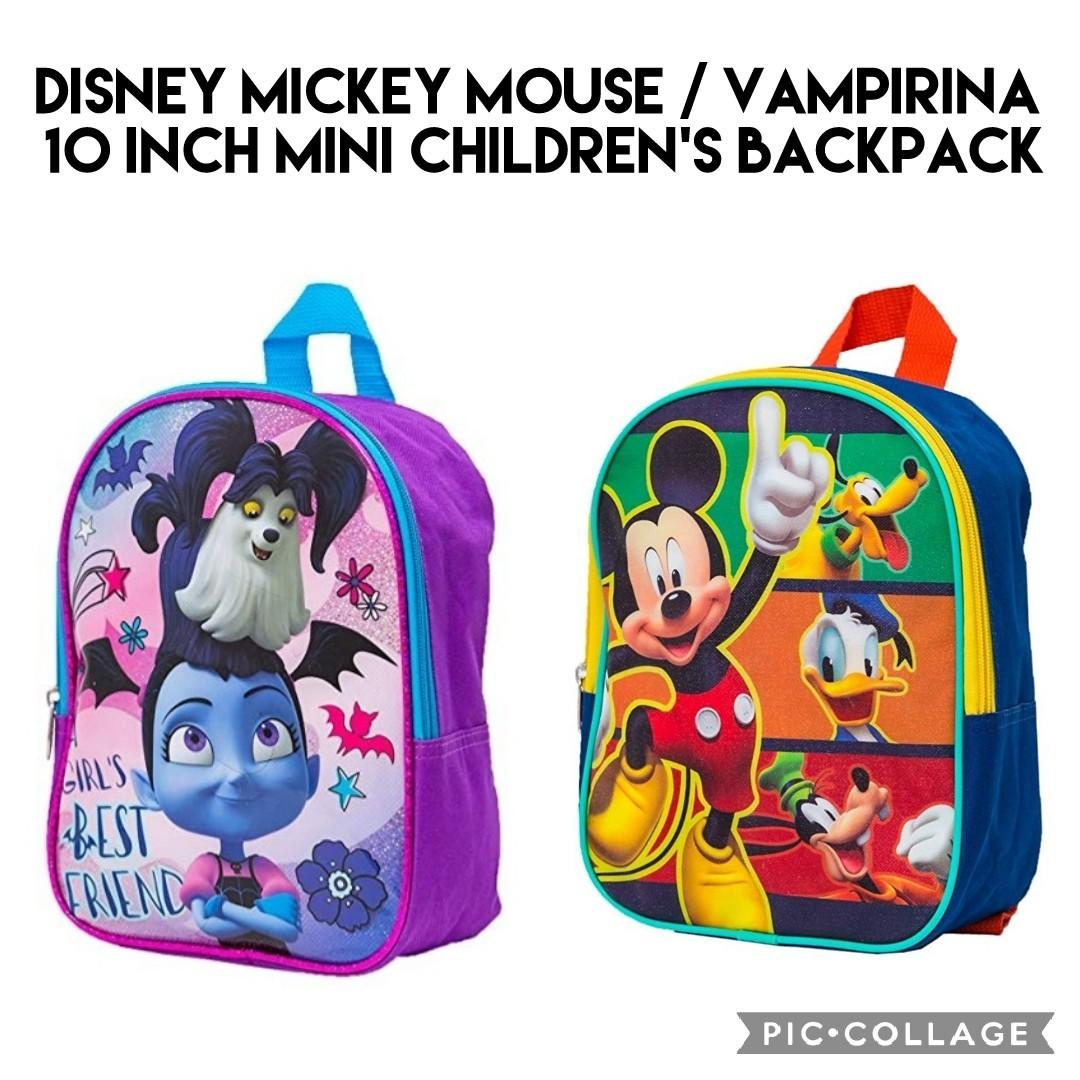 *Brand New* Disney Mickey Mouse / Vampirina 10 Inch Mini Children's  Backpack Kids School Bag (Best Gift for Toddler Back To School, Birthday  and