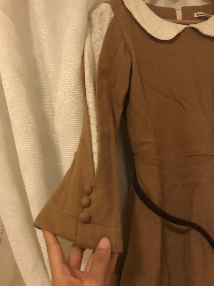 Brown n beige dress