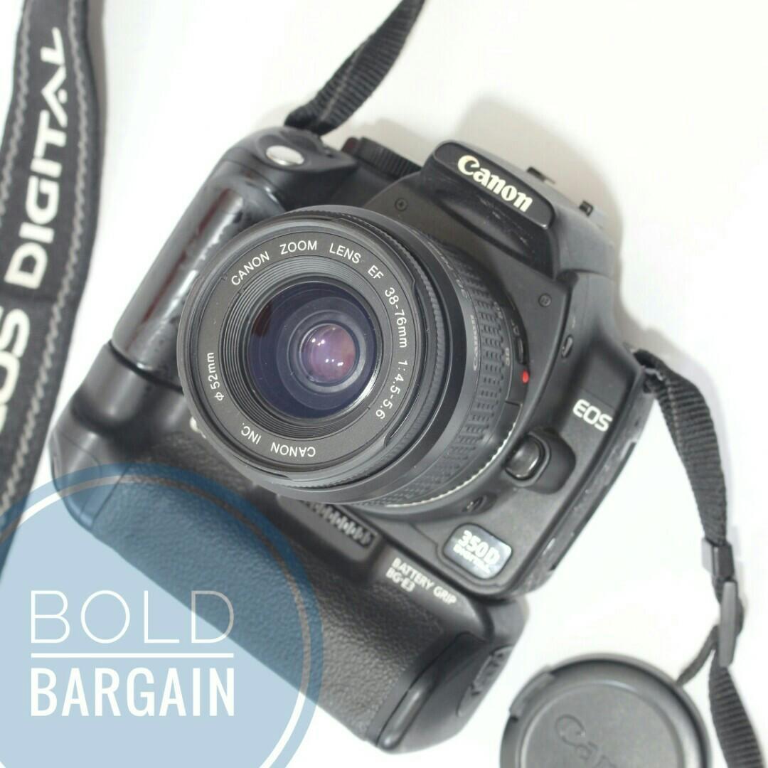 Canon EOS 350D with Original Battery Grip DSLR Digital SLR