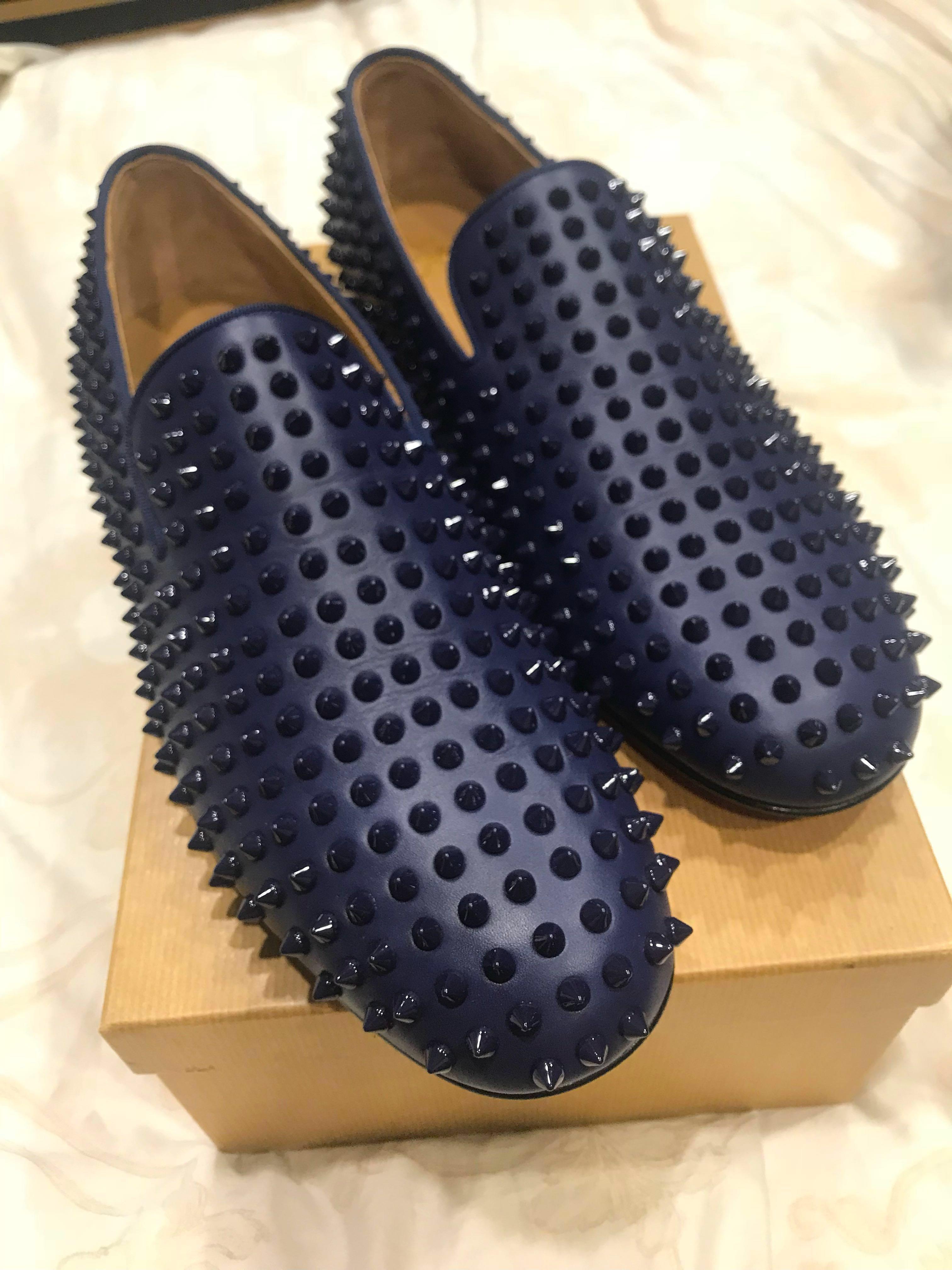 9d50b0761cd Christian Louboutin Rollerboy Spikes Flat, Men's Fashion, Footwear ...