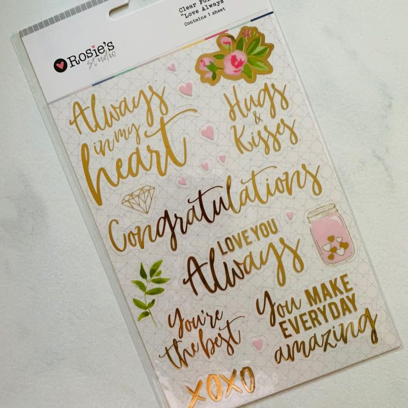 Clear Foil Stickers